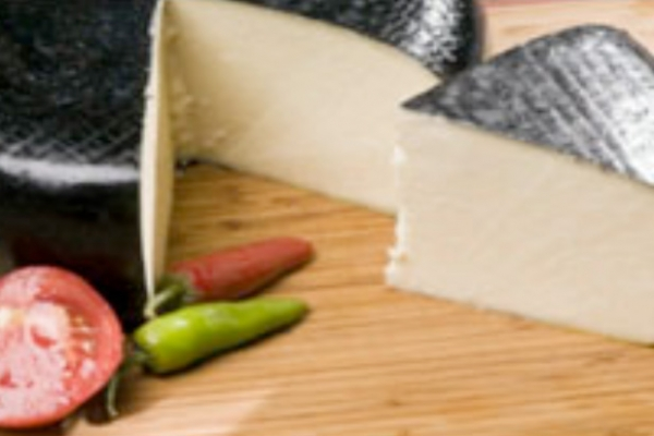 Organic Gouda cheese from sheep`s milk