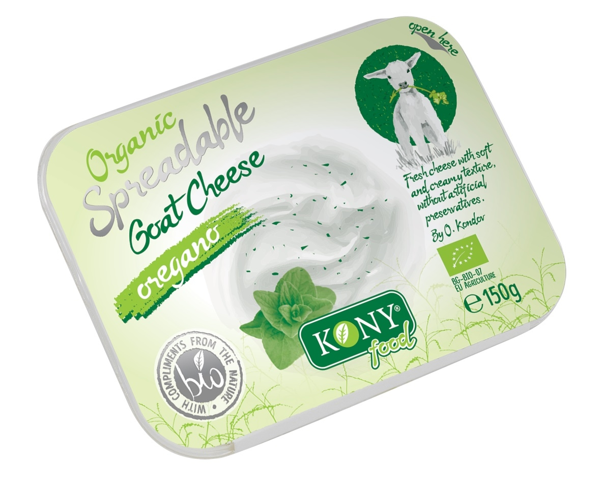 Organic Spreadable Goat cheese with oregano