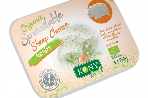 Organic Spreadable Sheep cheese with herbs